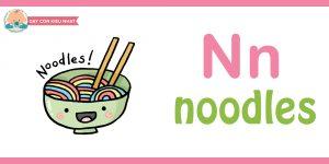 Flashcard cho bé - noodles