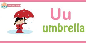 Flashcard cho bé - umbrella