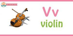 Flashcard cho bé-violin