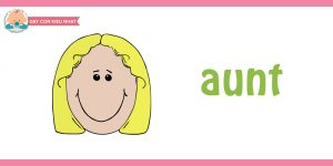 flashcard cho bé- chủ đề gia đình 15