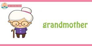 flashcard cho bé- chủ đề gia đình 7