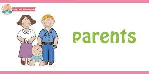 flashcard cho bé- chủ đề gia đình