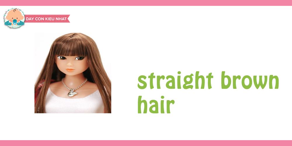 Straight brown hair