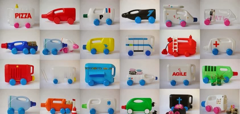 Sáng tạo xe đồ chơi từ chai nhựa