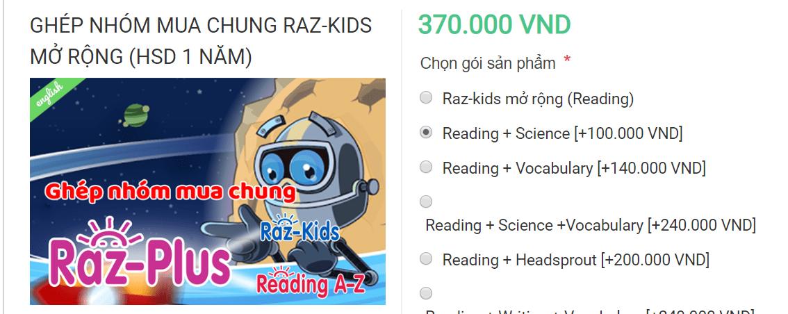 Giá Raz-Kids Reading + Science A-Z