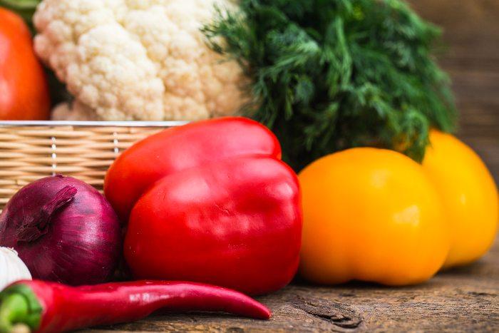 Ớt chuông là loại rau củ được đề cử trong thực đơn cho bé ăn dặm tự chỉ huy 6-8 tháng