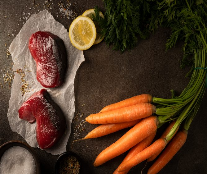 Cháo cá cà rốt