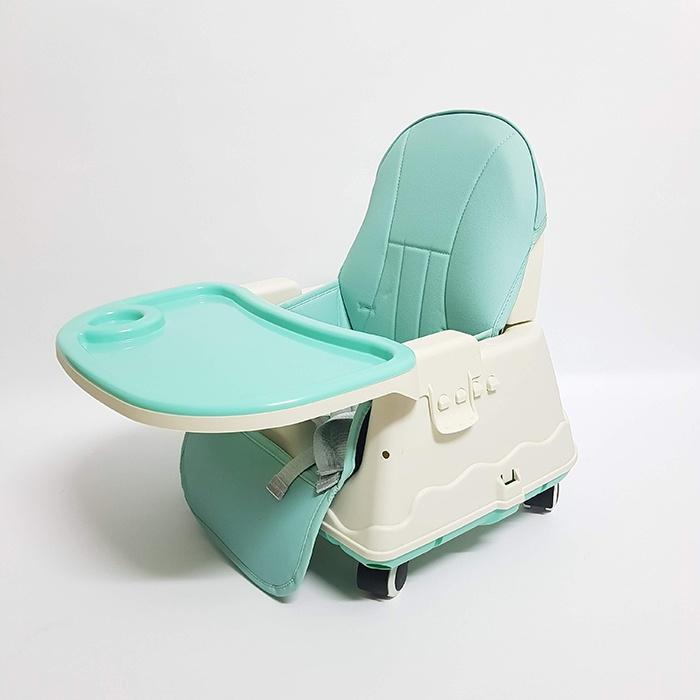 Ghế ăn dặm màu xanh ngọc