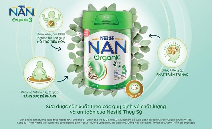 Sữa Nan Organic cho trẻ sơ sinh