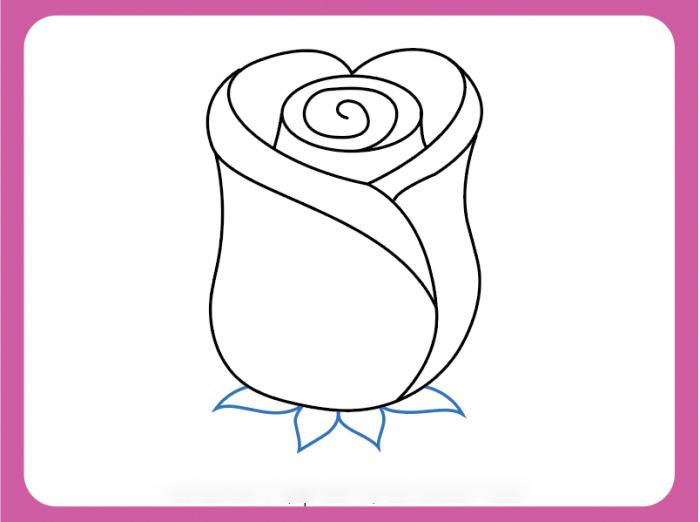 Bước 8 vẽ hoa hồng