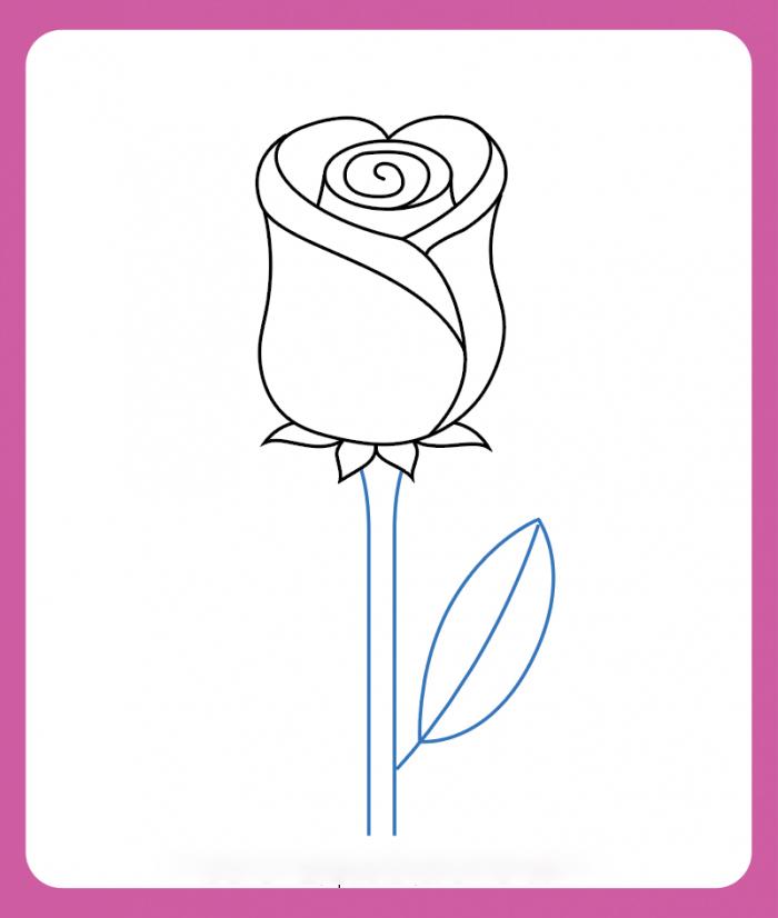 Hoa hồng cho bé tô màu