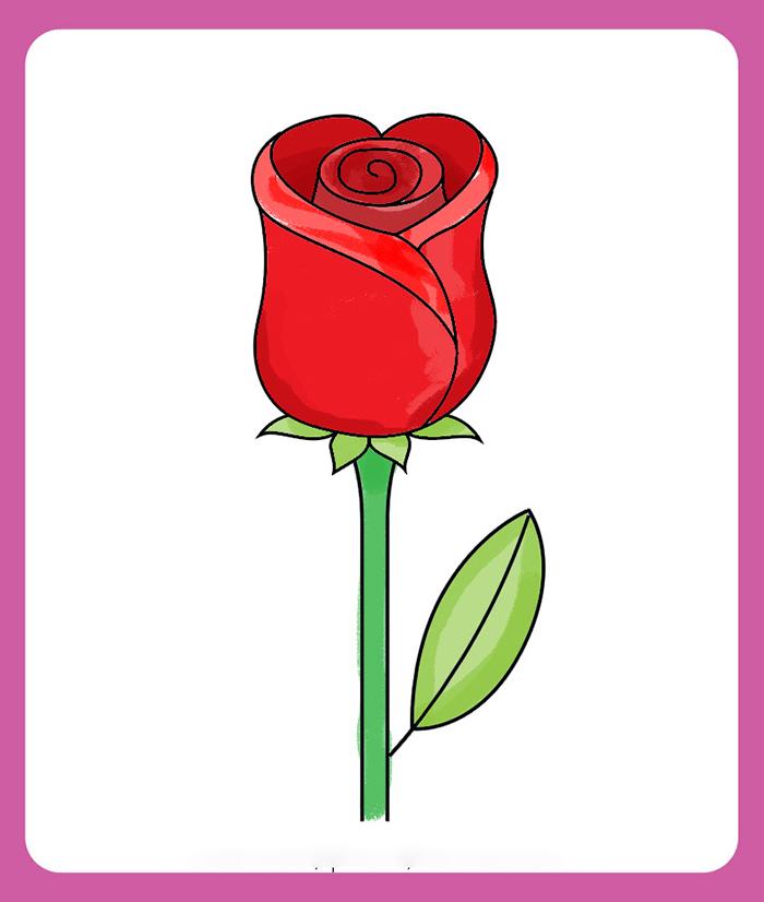 Bước 10 dạy bé vẽ hoa hồng