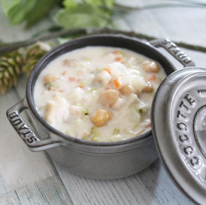 kem sữa hầm đậu cove và bắp cải