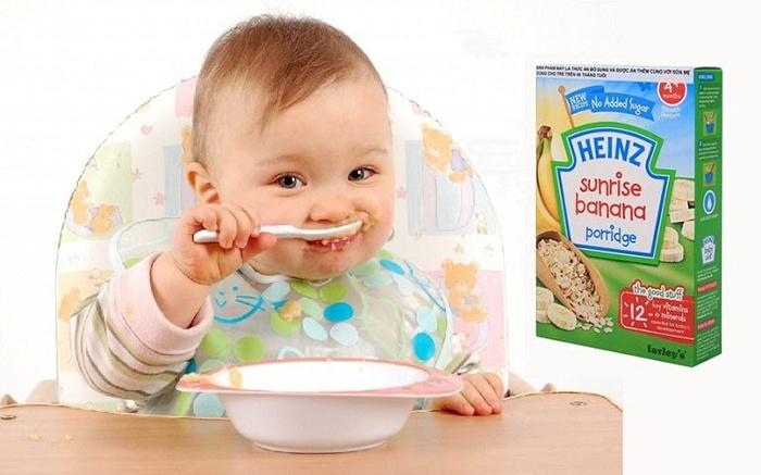 Các loại bột ăn dặm Heinz Anh