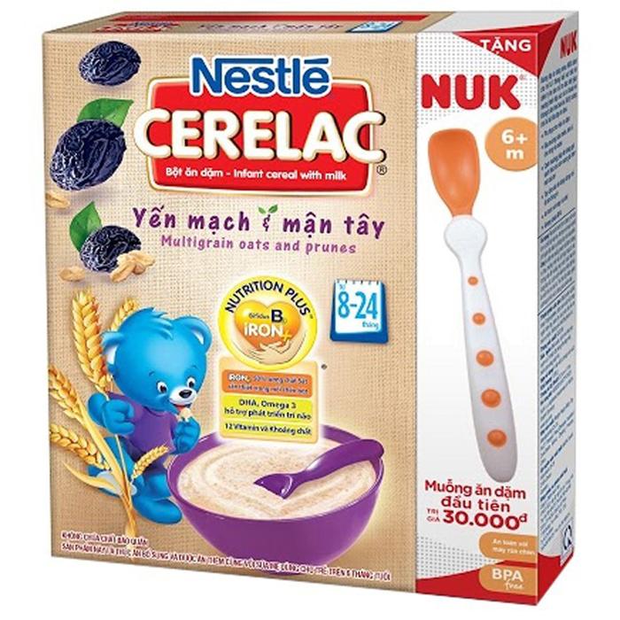 Bột ăn dặm Nestle yến mạch và mận tây