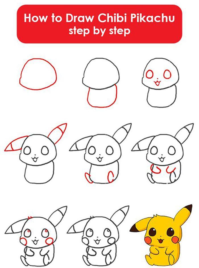 Cách vẽ Pikachu đơn giản cho bé