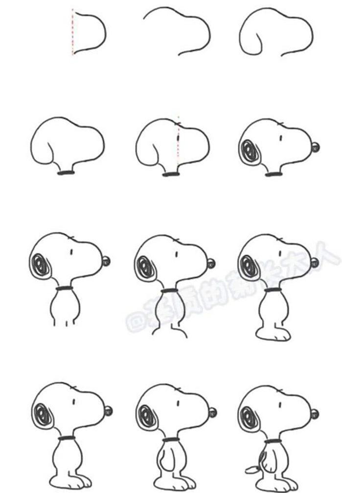 Hướng dẫn bé phác họa chú chó snoopy dễ dàng