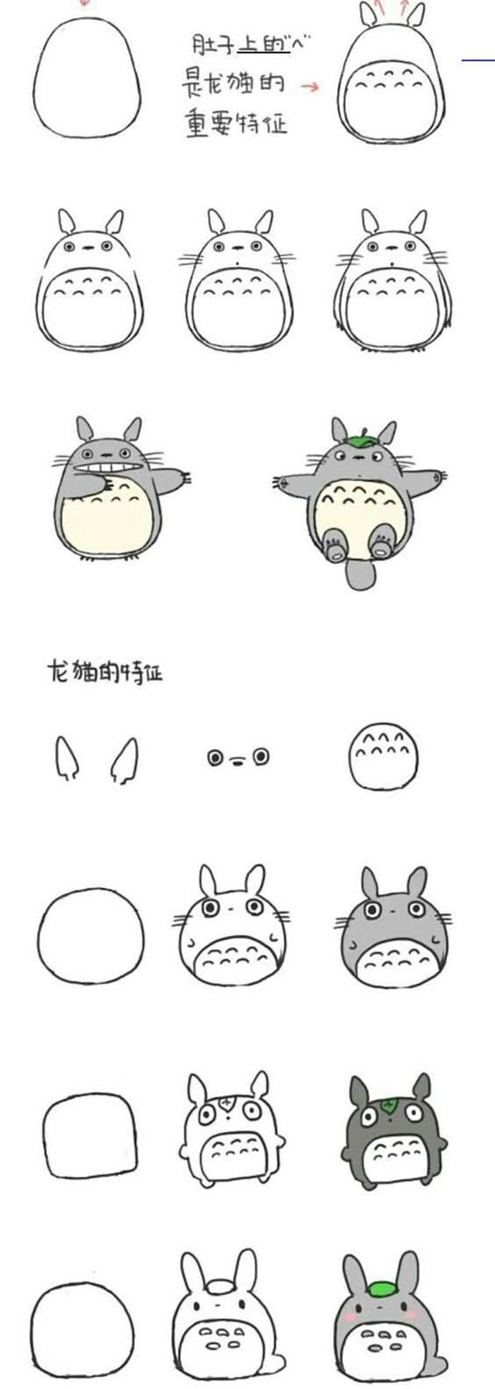 Hướng dẫn bé vẽ nhân vật hoạt hình Totoro