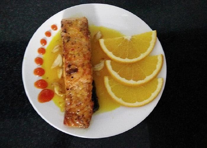 Hướng dẫn mẹ làm món cá hồi sốt cam