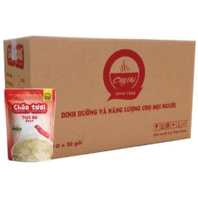 Thùng Cháo tươi Cây Thị Thịt bò (30 gói)