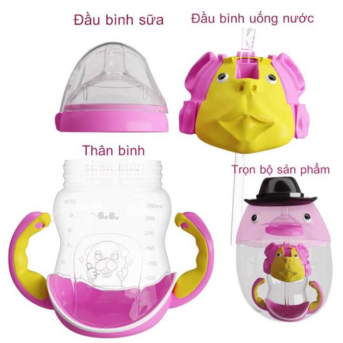 Cấu tạo bình sữa Bebu cho bé