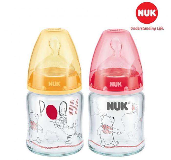 bình sữa nuk chất liệu thủy tinh