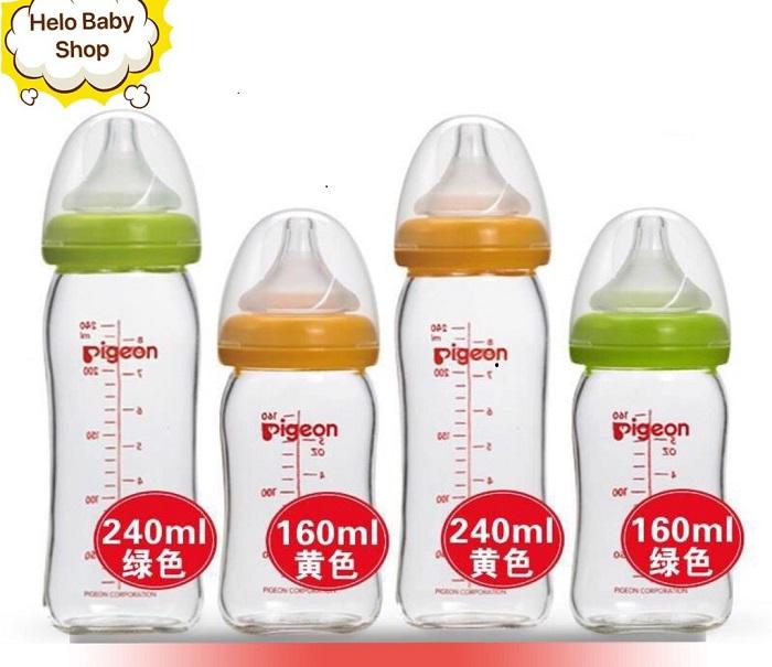 bình sữa thủy tinh Pigeon cho bé