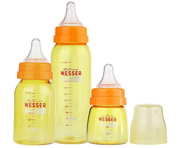 3 kích cỡ bình Wesser cho bé