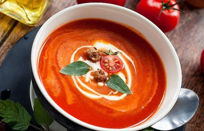 Cách nấu súp bò cà chua cho bé ăn dặm