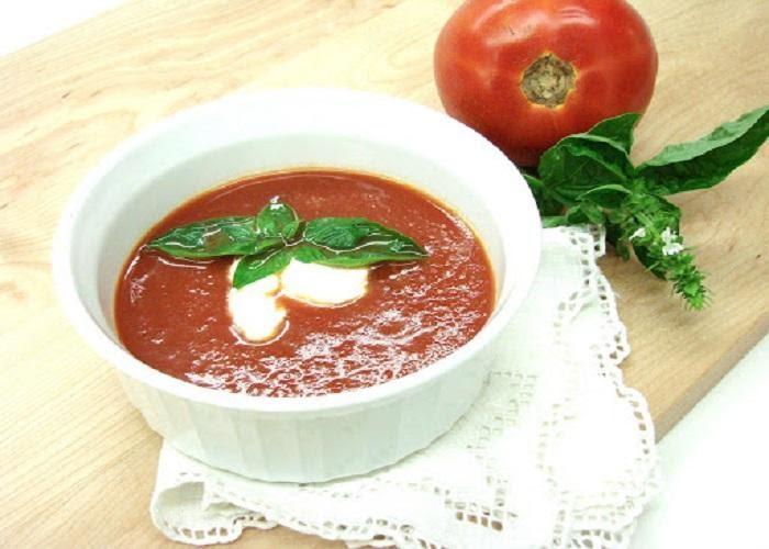 Cháo cá bớp nấu với cà chua, phô mai