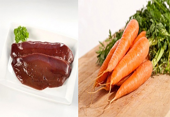 gan gà cà rốt nghiền cho bé ăn dặm