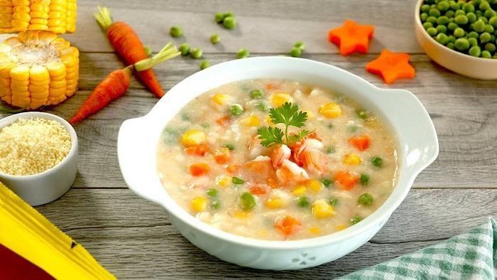 cách nấu súp tôm rau củ