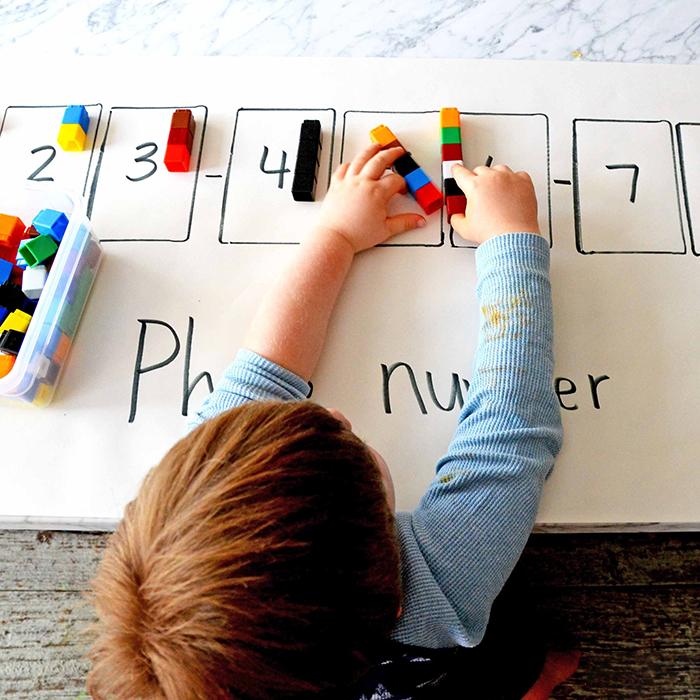phương pháp học thuộc tên con số cho bé