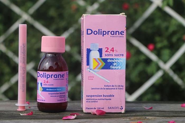 thuốc hạ sốt cho trẻ doliprane dạng siro