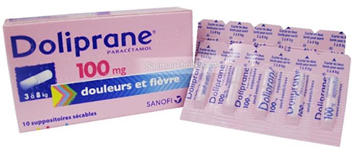 thuốc hạ sốt cho trẻ sơ sinh doliprane dạng viên