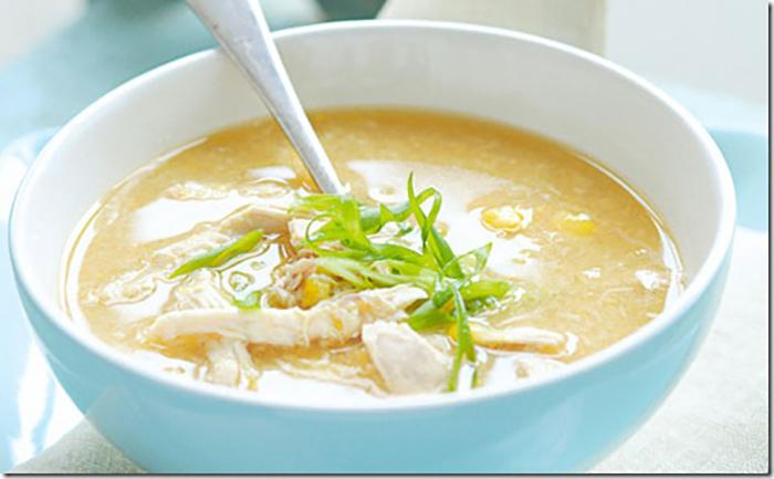 súp khoai lang gà