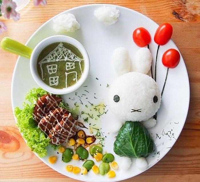 Đồ ăn đẹp là cách kích thích trẻ ăn uống ngon miệng hơn
